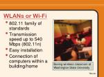 wlans or wi fi