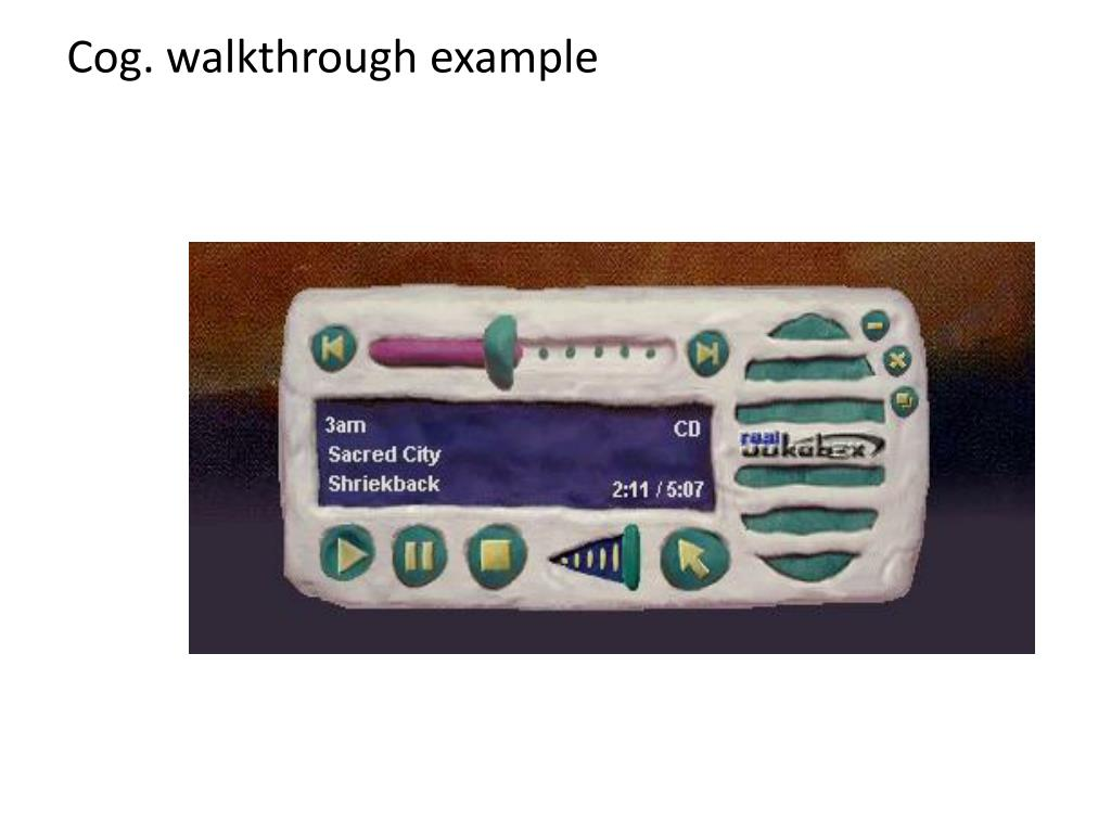 Cog. walkthrough example