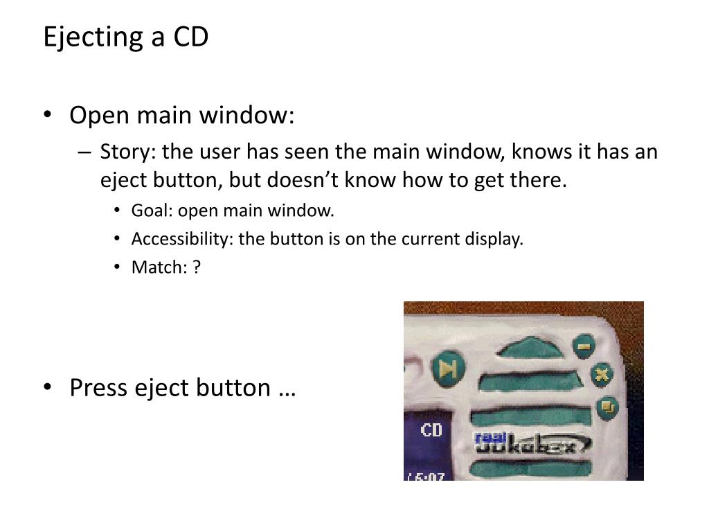 Ejecting a CD