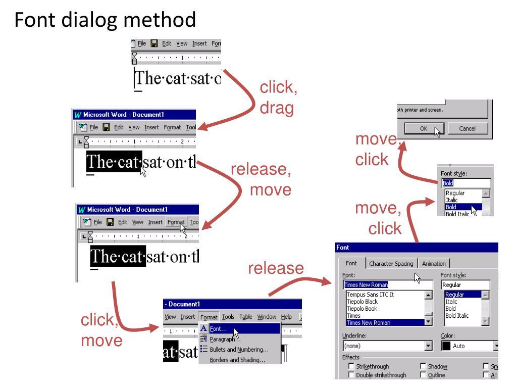 Font dialog method