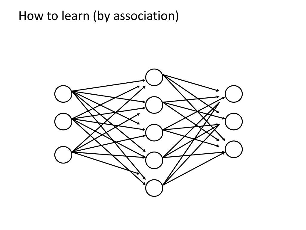 How to learn (by association)