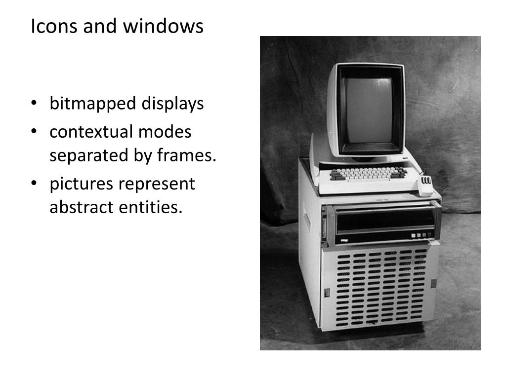 Icons and windows