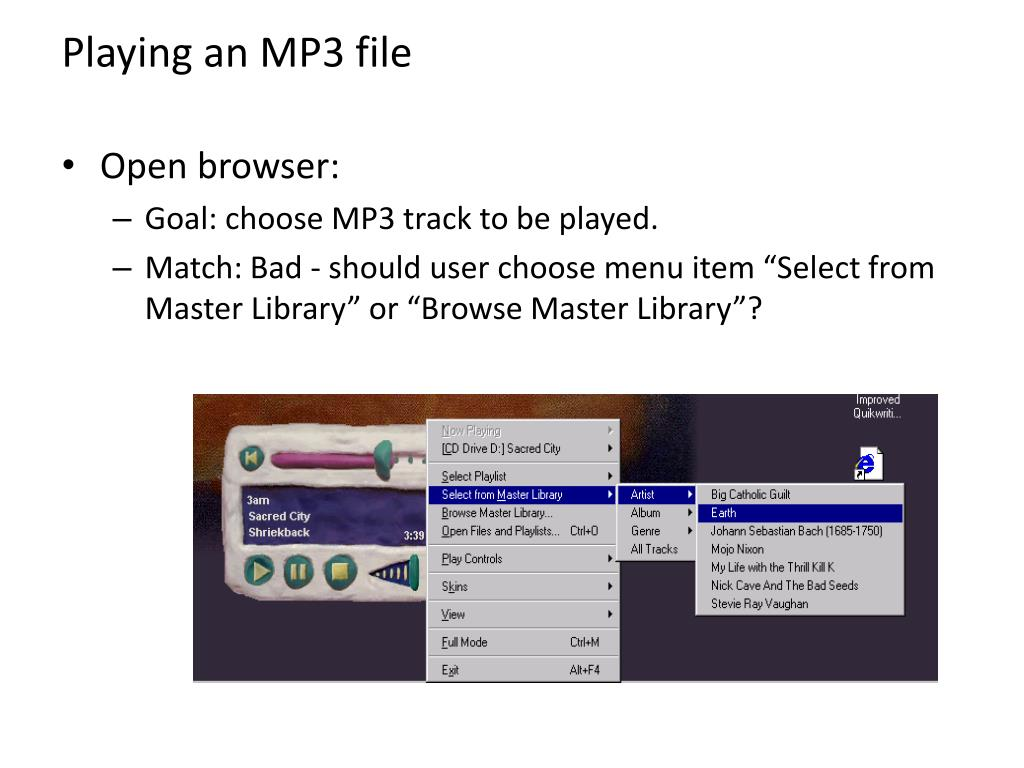 Playing an MP3 file