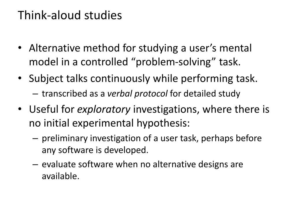 Think-aloud studies