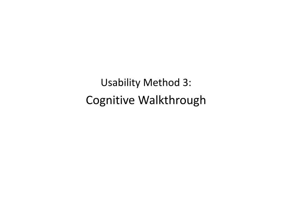 Usability Method 3: