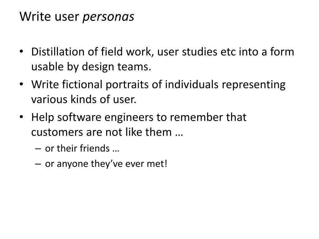 Write user