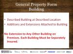 general property form building