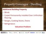 property coverages dwelling7