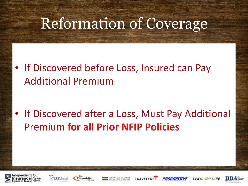 Reformation of Coverage