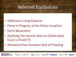 selected exclusions