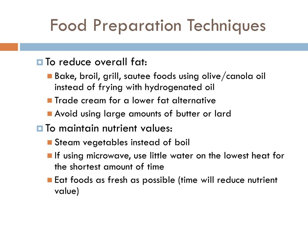 Food Preparation Techniques