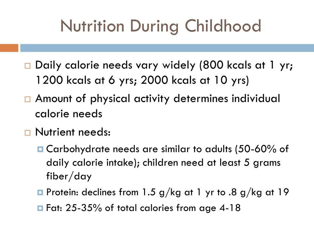 Nutrition During Childhood