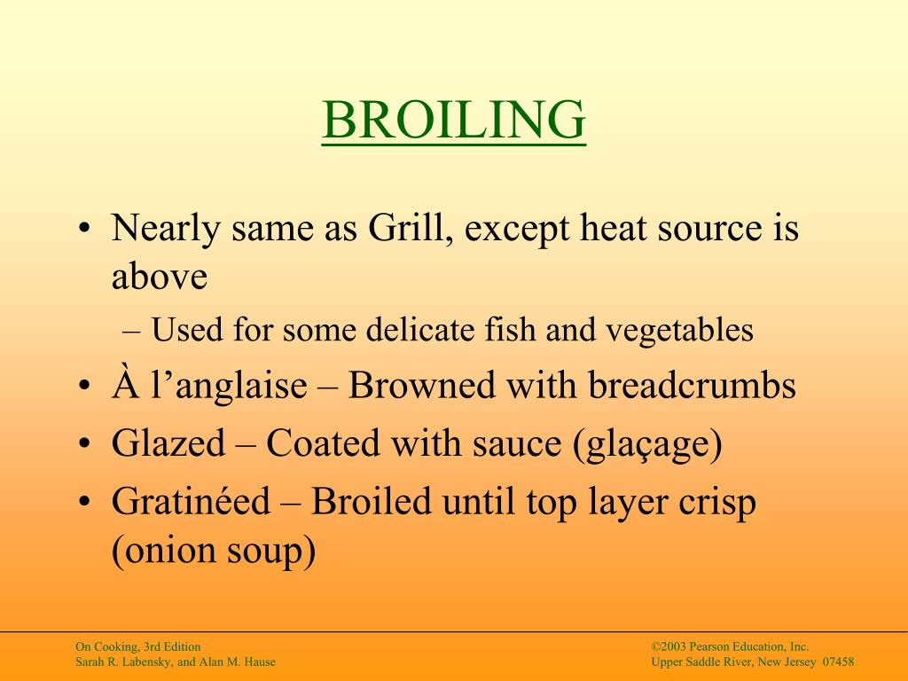 BROILING
