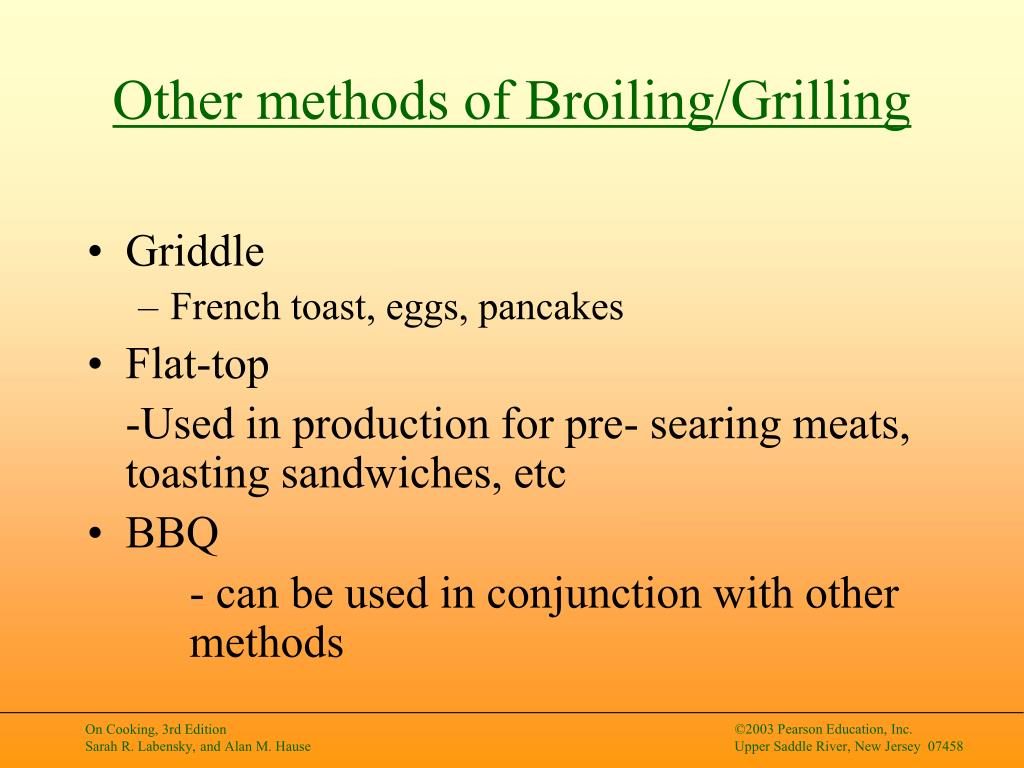 Other methods of Broiling/Grilling