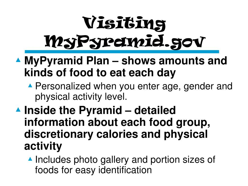 Visiting MyPyramid.gov