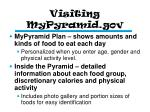 visiting mypyramid gov