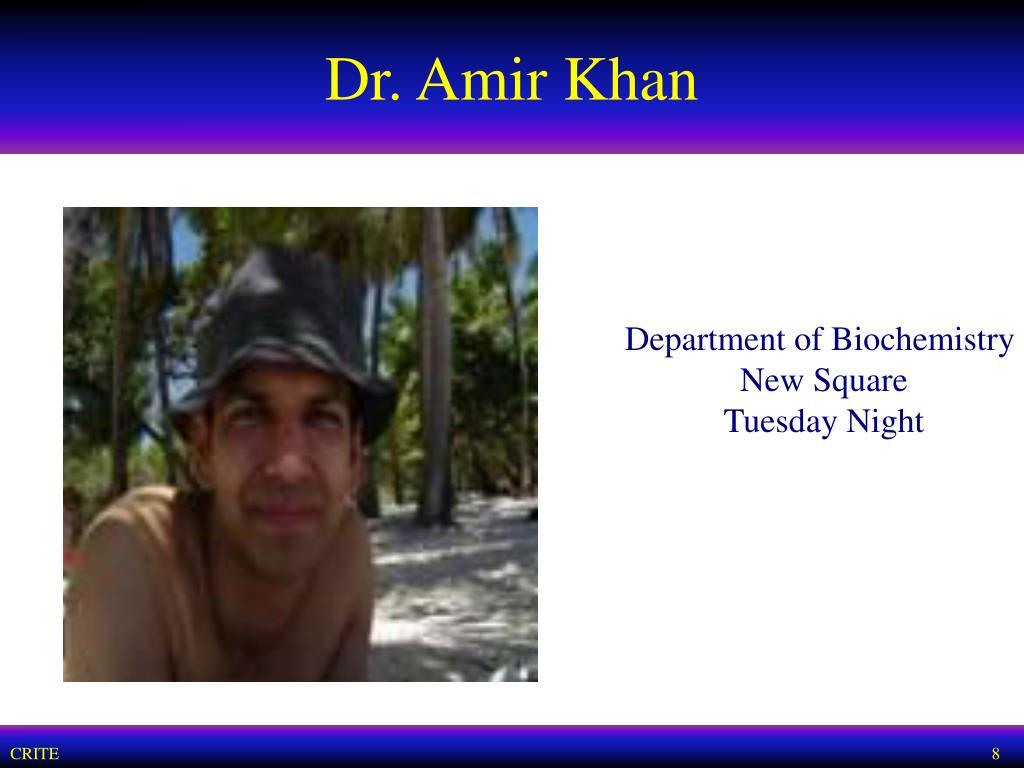 Dr. Amir Khan