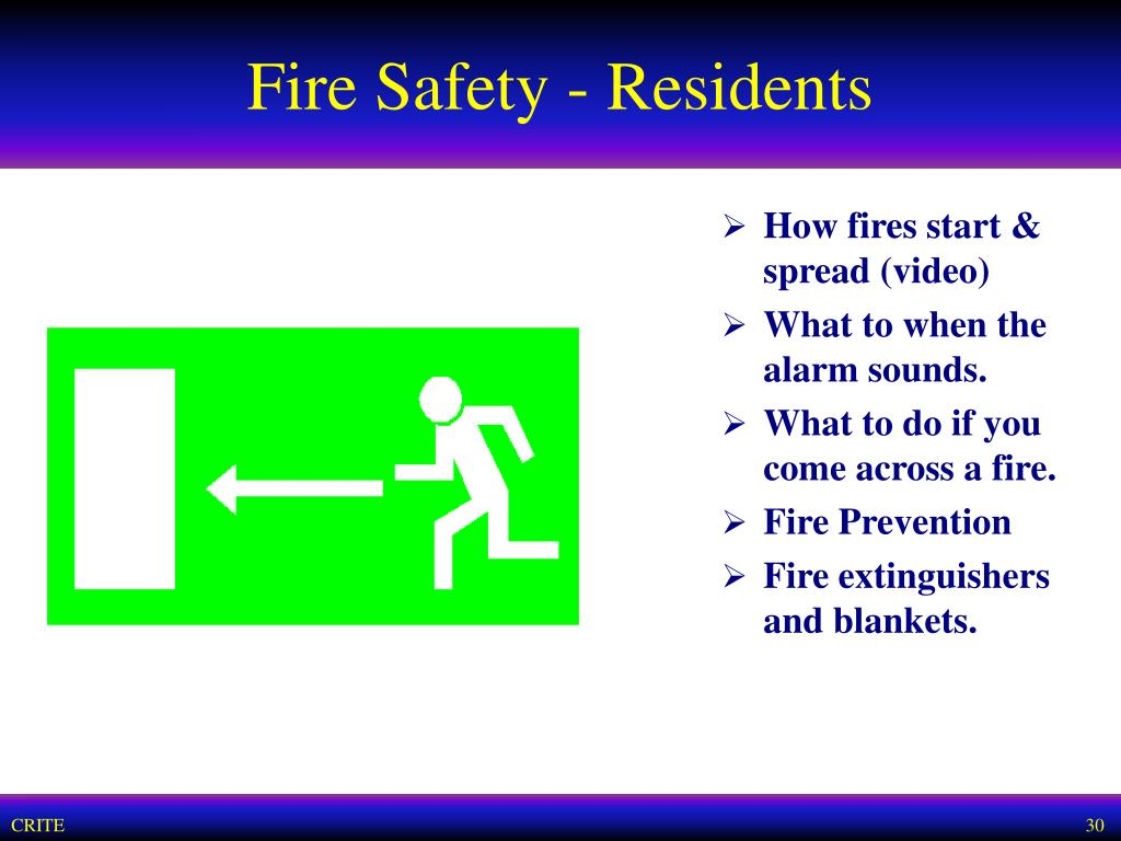 Fire Safety - Residents