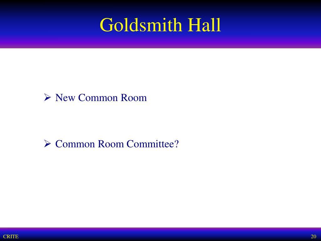 Goldsmith Hall