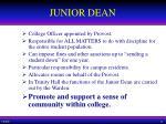 junior dean
