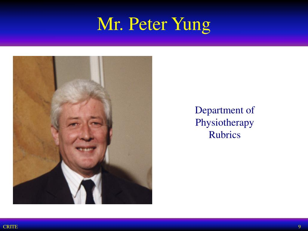 Mr. Peter Yung