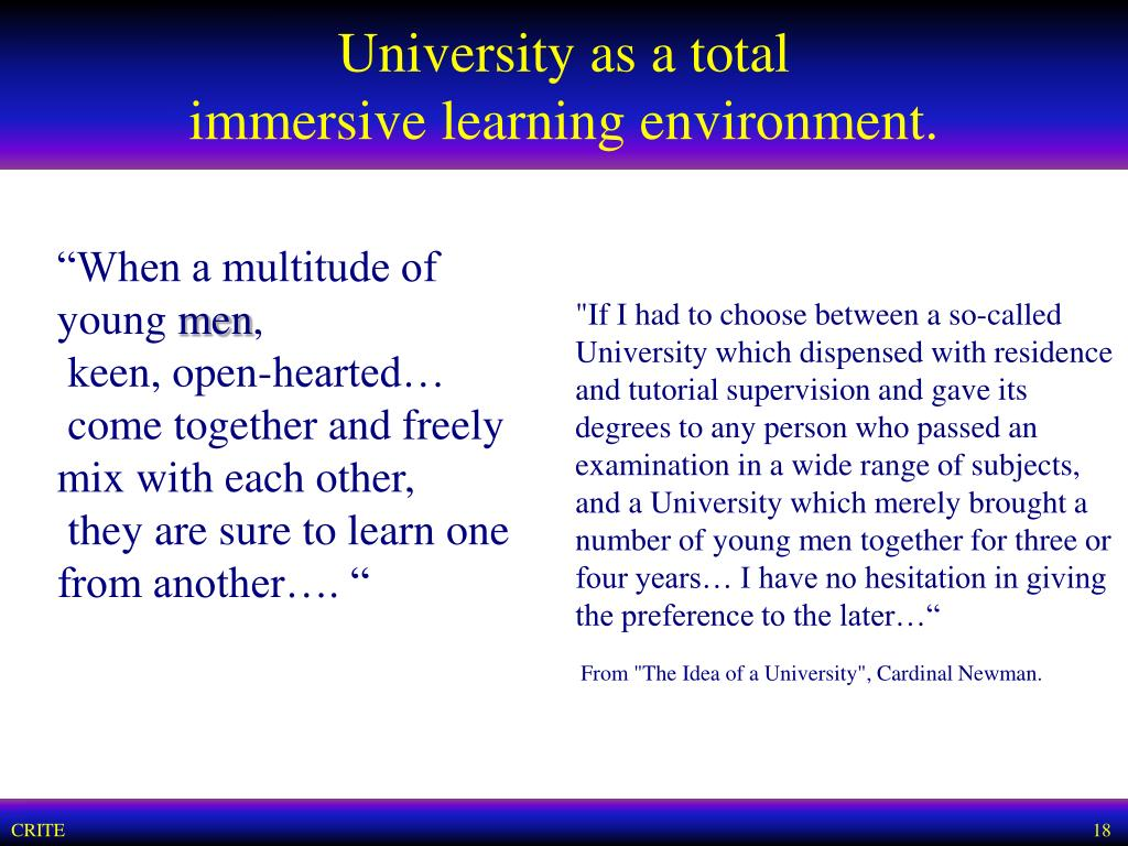 University as a total