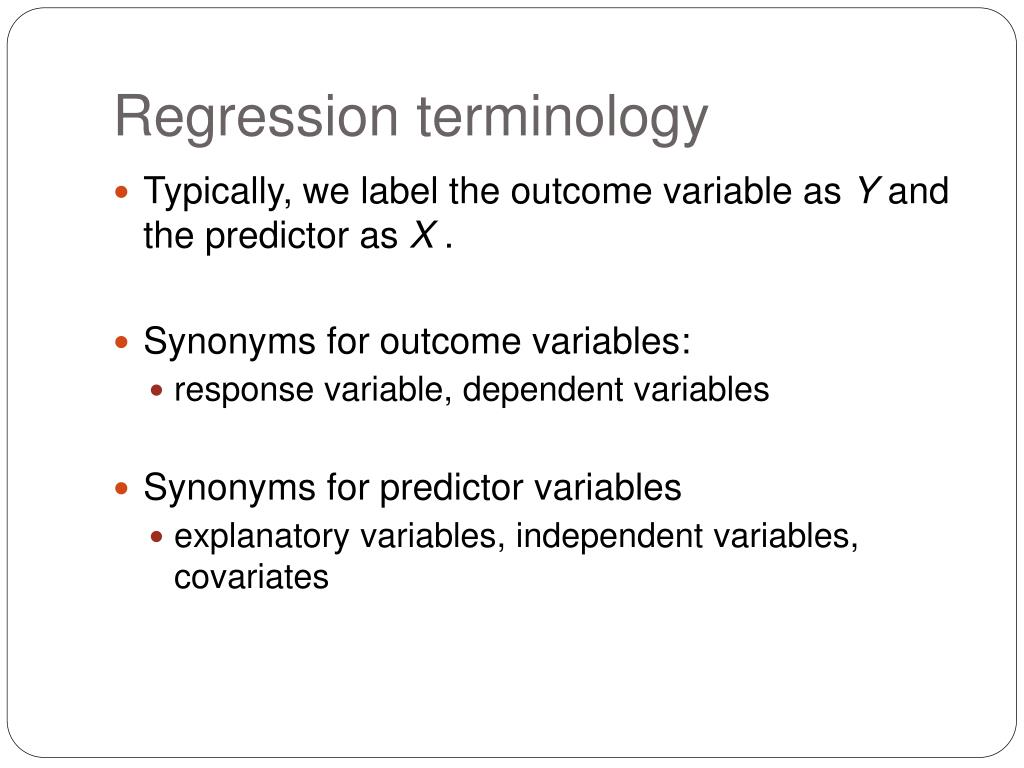 Regression terminology
