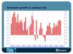 economic growth vs savings rate