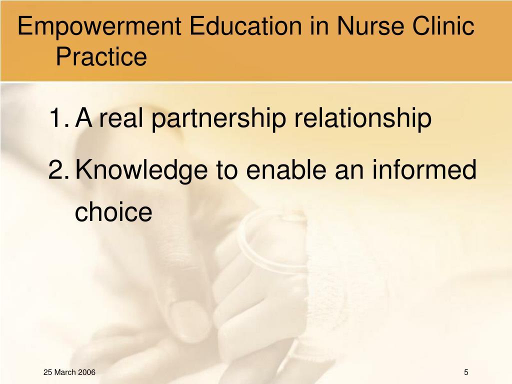 Empowerment Education in Nurse Clinic Practice