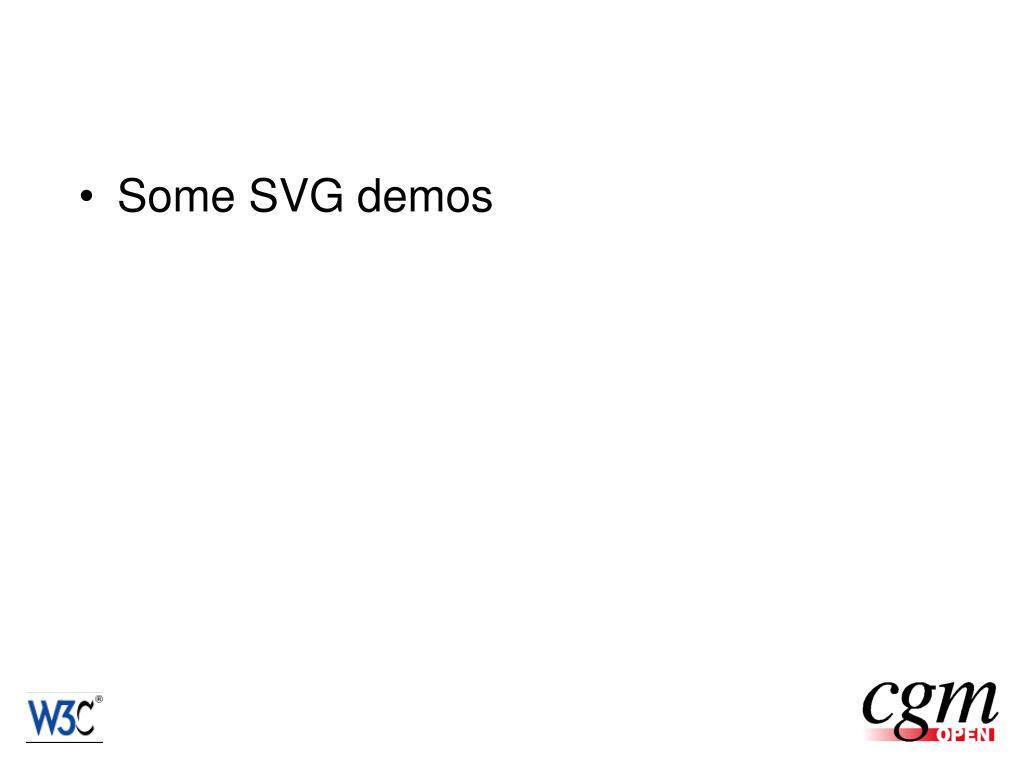 Some SVG demos