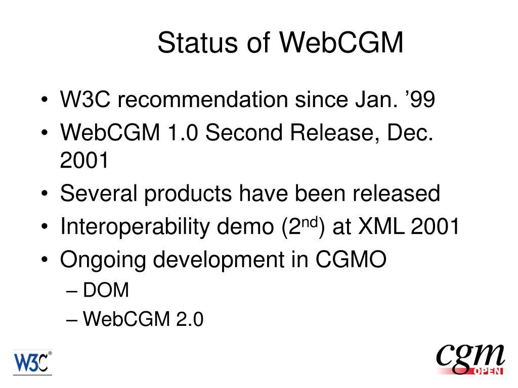 Status of WebCGM