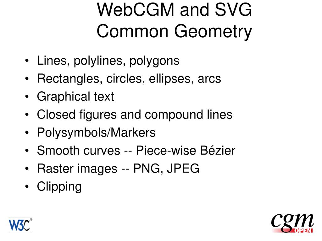 WebCGM and SVG