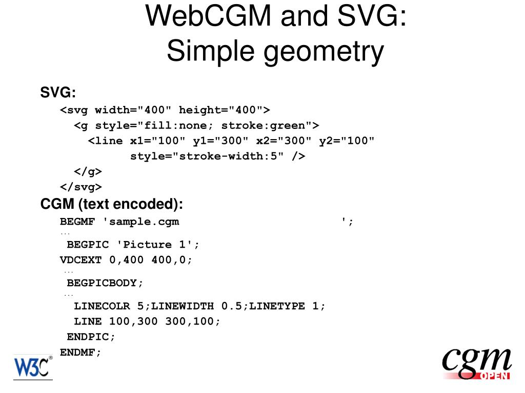 WebCGM and SVG: