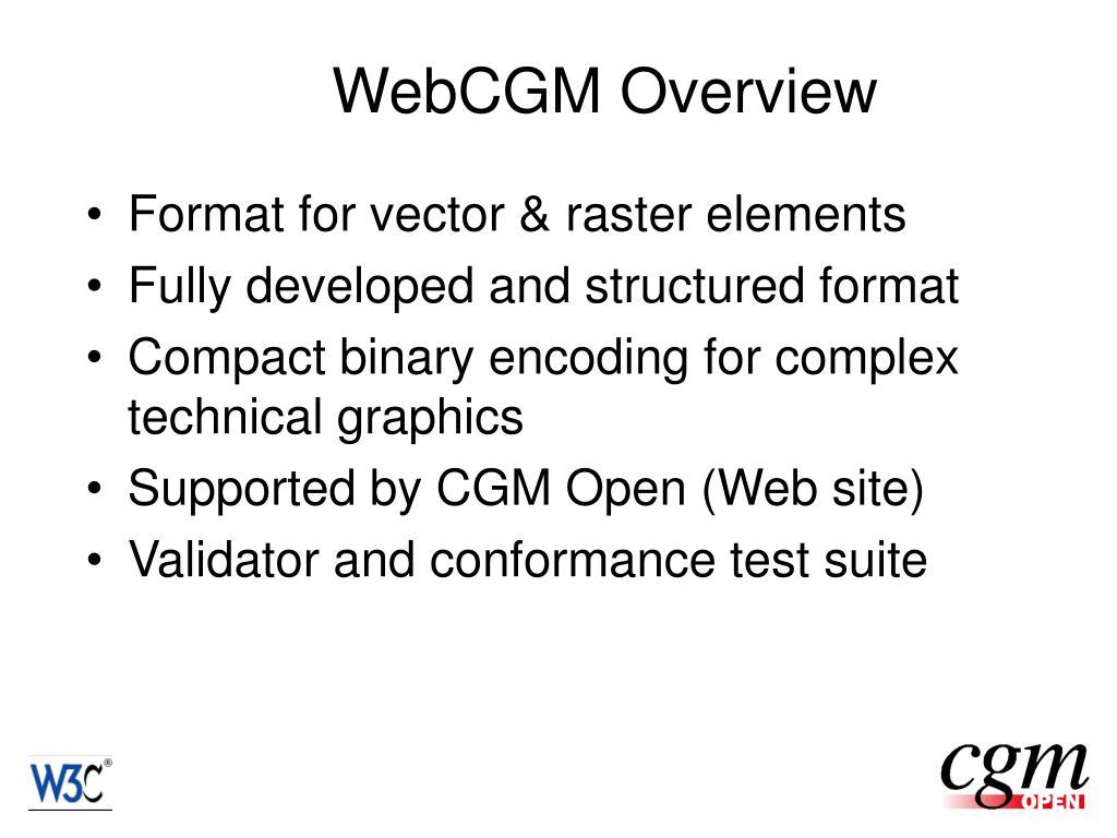 WebCGM Overview