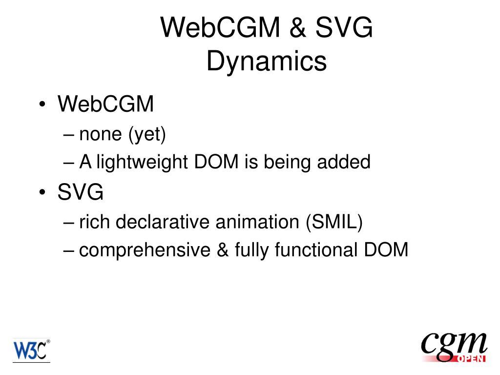 WebCGM & SVG