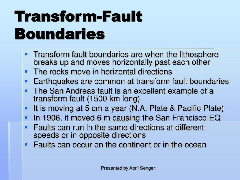 Transform-Fault Boundaries