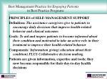 best management practice for engaging patients in best practice programs