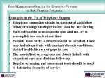 best management practice for engaging patients in best practice programs29