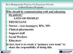 best management practice for engaging patients in best practice programs35
