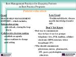best management practices for engaging patients in best practice programs