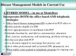 disease management models in current use47