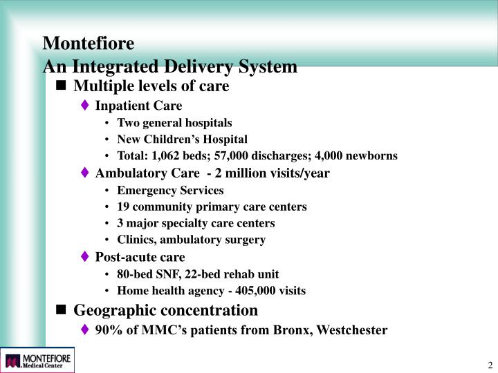 Montefiore an integrated delivery system