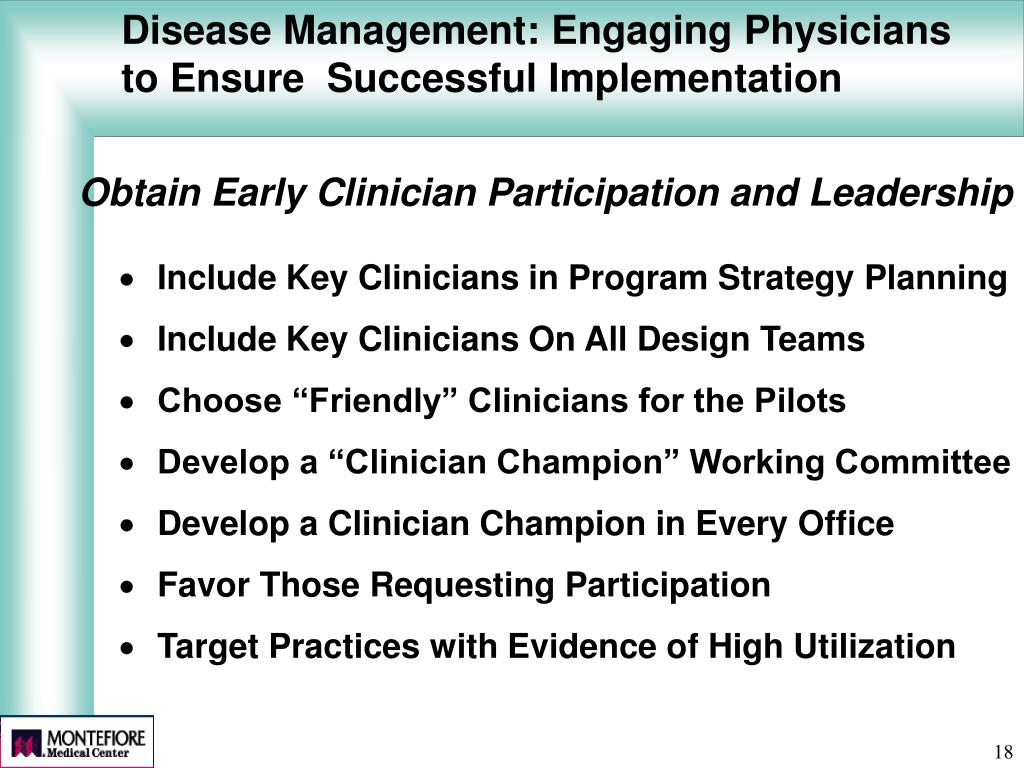 Disease Management: Engaging Physicians