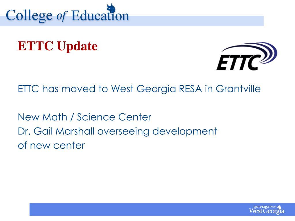 ETTC Update