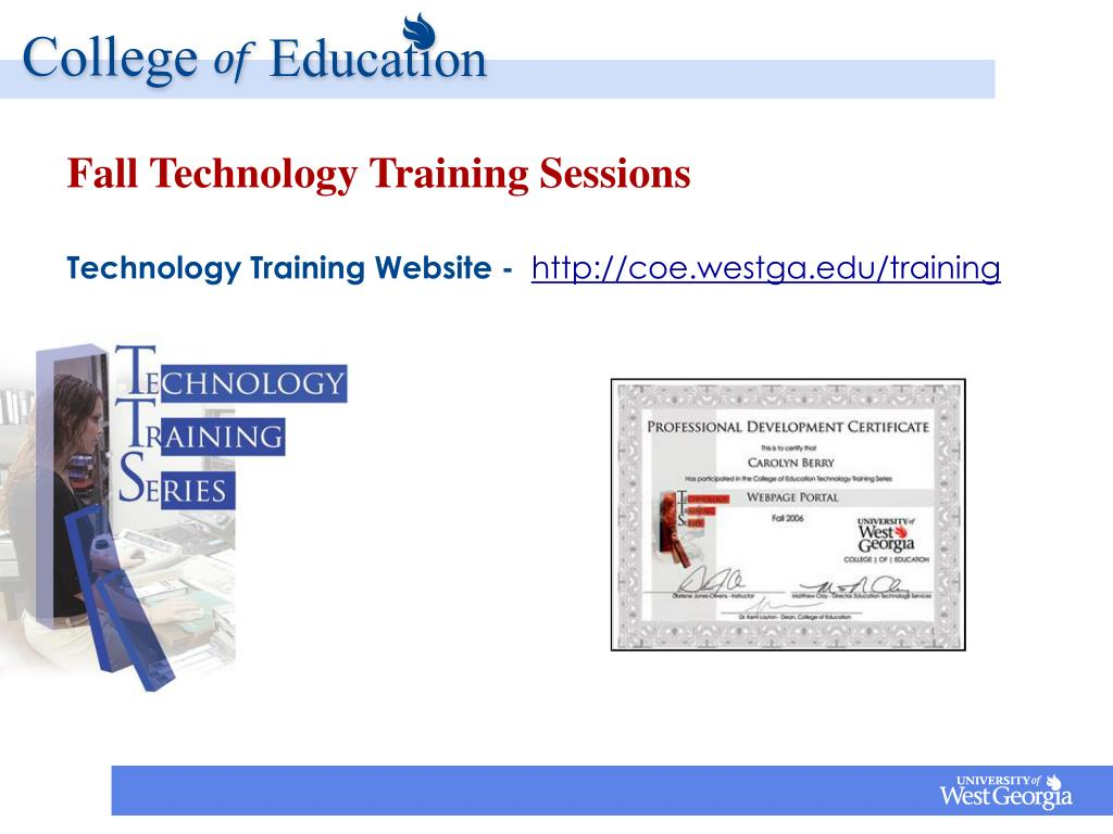 Fall Technology Training Sessions