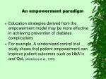 an empowerment paradigm