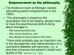 empowerment as the philosophy