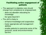 facilitating active engagement of patients