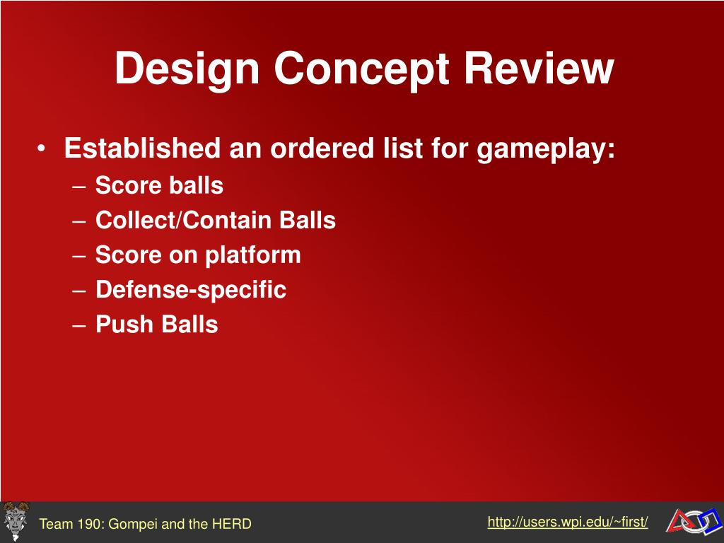 Design Concept Review