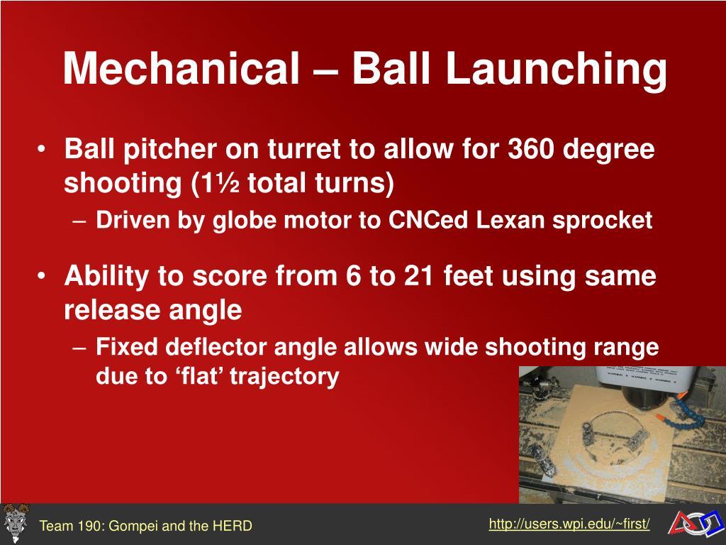 Mechanical – Ball Launching
